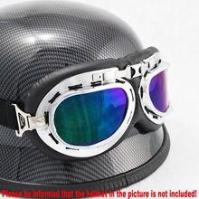 Gran oferta Estilo Vintage aviador piloto Cruiser motocicleta bicicleta ciclismo gafas de sol casco gafas lentes gafas