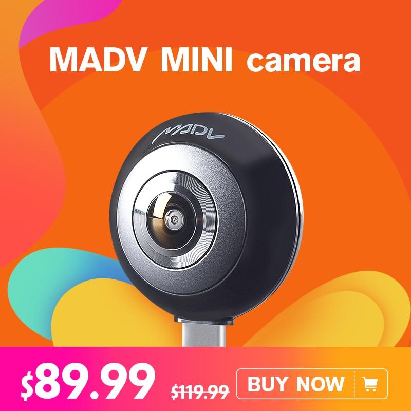 Xiaomi MADV Mini 13MP CMOS Capteur 360 Degrés Panorama Caméra VR pour Huawei Android Smart Mobile Poco Téléphone Pocophone F1 type C