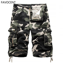 New Cargo Shorts Men Top Design Camouflage Military Army Kha