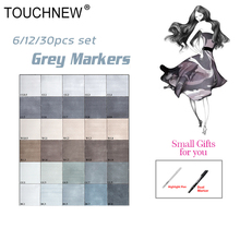 Здесь можно купить  Touchnew 30 Colors Grayscale Art Marker Pen 6/12 Double-Ended Art Supplies Alcohol Based Ink Sketch Marker Neutral Gray Tones
