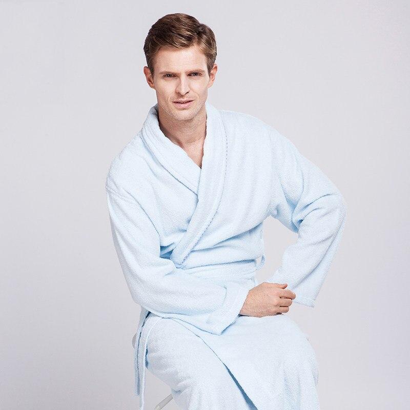 Baumwolle Handtuch Dicke Warme Bademäntel Luxus Paare Frauen Männer Lange Stepp Bademantel Für Brautjungfern Erwachsene Bad Kleidung-in Dusch-und Handtücher aus Heim und Garten bei  Gruppe 2