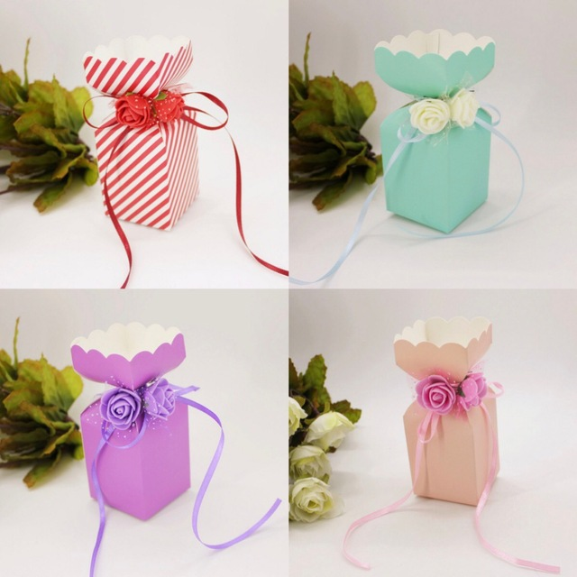 Blue Purple Pink Red European Vase Flower Wedding Favors Candy