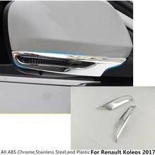 Hot sale Car ABS chrome rear view Rearview Side Mirror Cover stick trim frame lamp 2pcs/set For Renault Koleos 2017 2018 2019