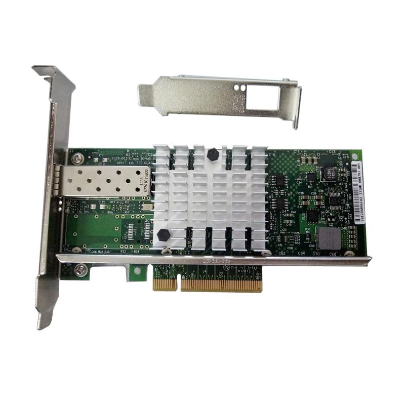 все цены на 10Gbps PCI-E X8 Single Port SFP+ Ethernet Server Adapter NIC E10G41BFSR X520-SR1 онлайн