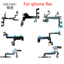 shuohu brand 1pcs New Power Button On Off Flex Cable For iPhone 5 5S 5C 6 6Plus Mute Volume Switch Connector Ribbon Parts