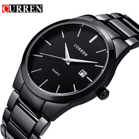 2016 HOT Sell CURREN Quality Brand Military Wrist Watches Full Steel Men Famous Business Watch Waterproof