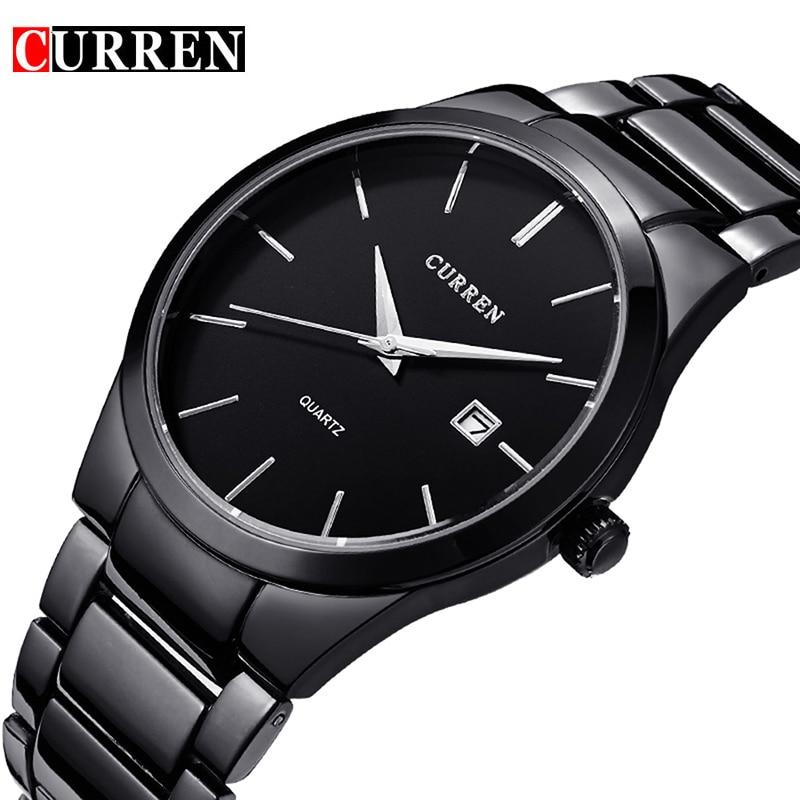 CURREN Quartz Watch Men Top Brand Military Wrist Watches MEN Full Steel Business Men Watch Clock Waterproof Relogio Masculino