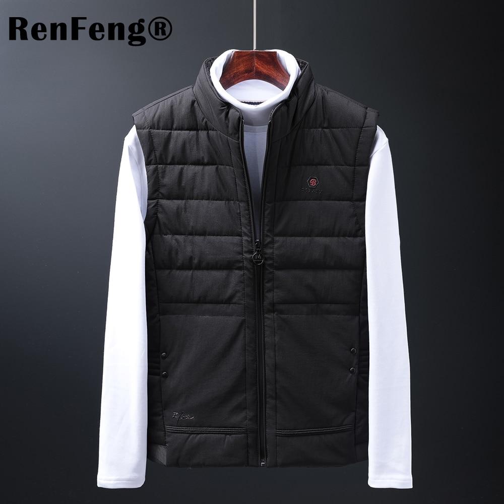 Mens Jacket Sleeveless white duck down Vest Winter Fashion Casual Slim Coats Brand Clothing Cotton-Padded Men Vest Men Waistcoat (3)