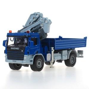 Image 2 - KDW odlew ze stopu żuraw Model ciężarówki 1:50 żuraw teleskopowy wywrotki nogi podporowa automat z zabawkami Model pojazdu kolekcja dla dzieci samochód zabawka