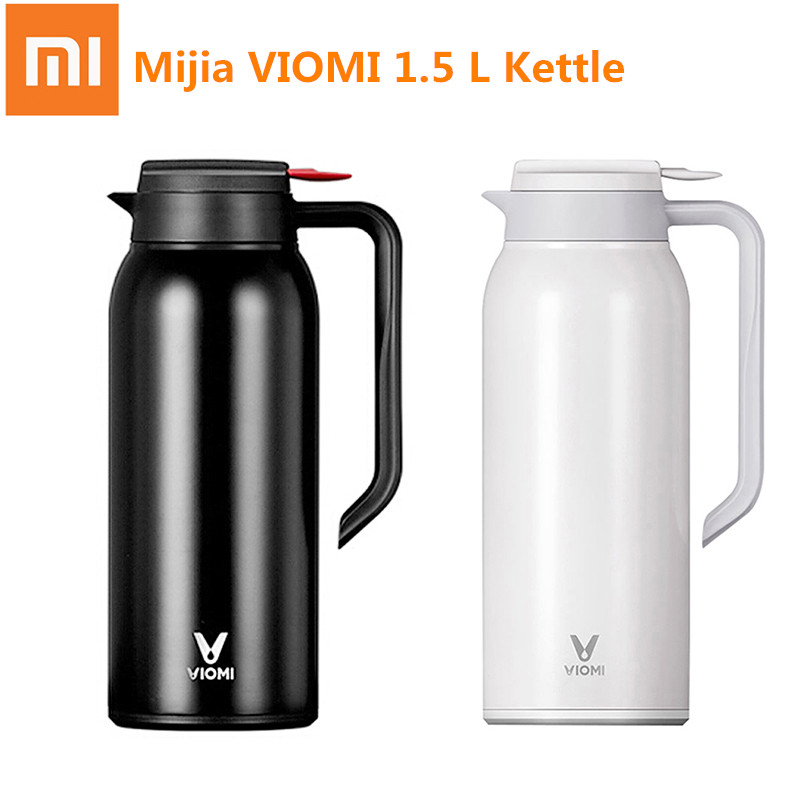 2019 1 Mi Mijia VIOMI 1.5 L Kettle Thermos Cups Stainless Steel Vacuum 24 Hours Flask Water Smart Bottle Thermos Single