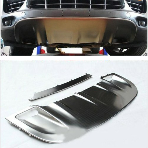 New Stainless steel FRONT REAR Skid Plate For Porsche Cayenne 11 14 2011 2012 2013 2014
