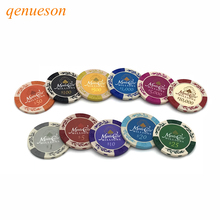 New 25 PCS/Lot Wheat Dollar Casino Coins Texas Holdem Clay Poker Chips Baccarat Upscale Set Pokerstars 14g Color Crown qenueson