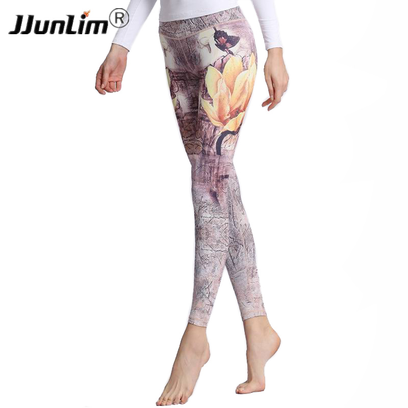 Fitness Yoga Sports Leggings For Women Stretched Printed Yoga Pants Yoga leggings Female Workout Trousers Running Pants Tights women sports tights yoga pants