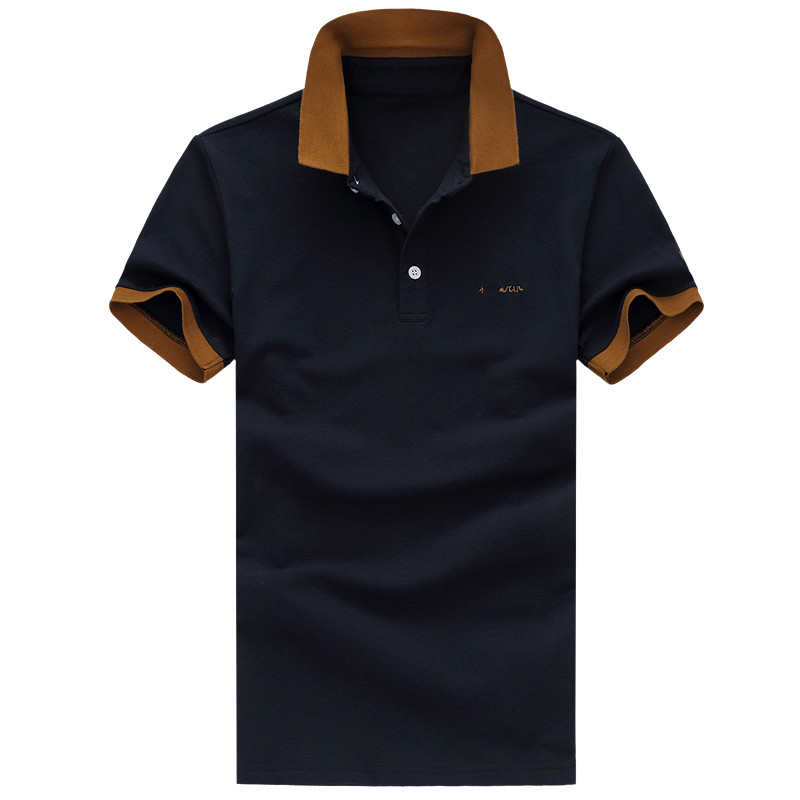 2017 New style Men's leisure fashion elastic short sleeves   polo   shirts Men's 100% cotton short sleeves cotton   Polo   shirts men