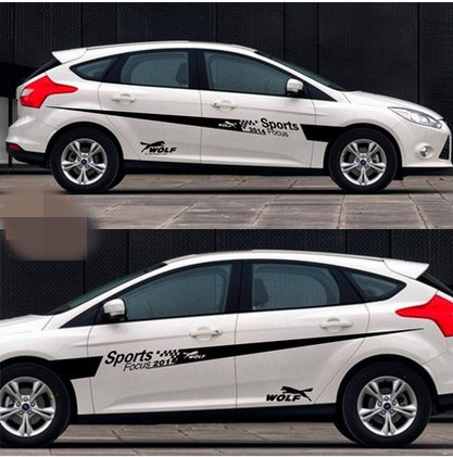 Car Styling Whole body 2 Pcs KK Material Auto Car Body Styling Vinyl Decal Graphics Sticker Fit for Ford Focus 2014 boomboost 2 pcs car led for ford new focus 2012 2014 daytiime running lights car styling