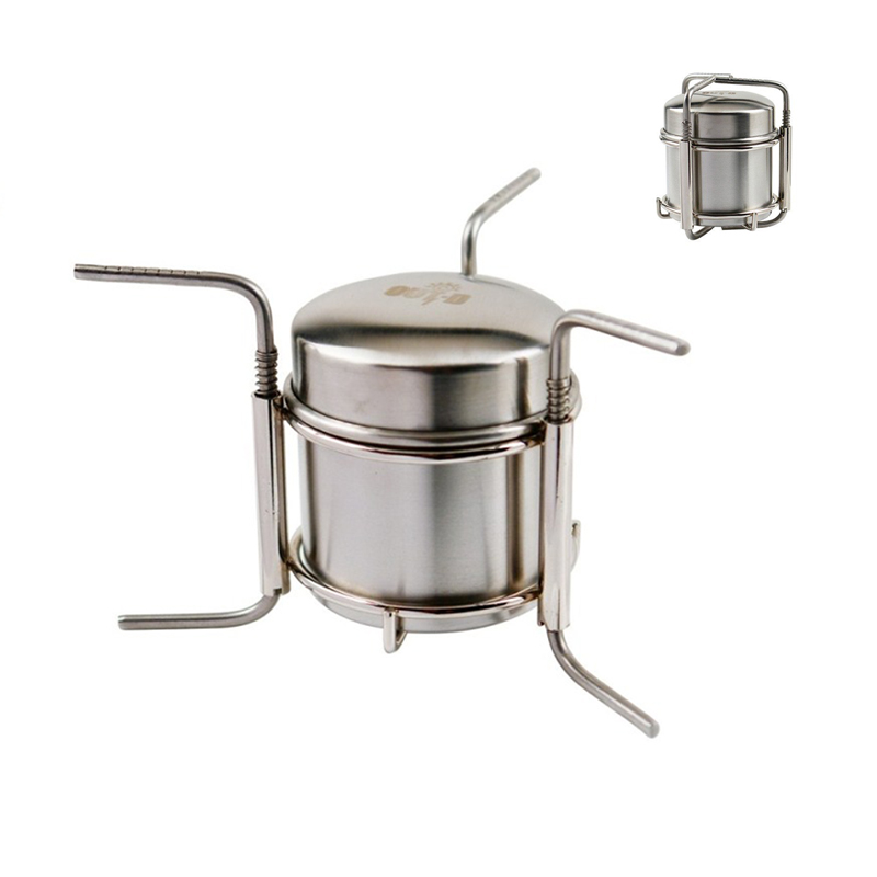 Free Shipping Stainless Steel Alcohol <font><b>Stove</b></font> Camping <font><b>Stove</b></font> Cooking <font><b>stove</b></font> B-1