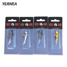 Yernea 4 шт/лот 6 см приманка для зимней рыбалки Мормышка льда