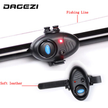 Electronic Fish Sound Bite Finder Alarm LED Light Alert Bell Clip On Fishing Rod fish finder free shipping 24 Fishing LED Light