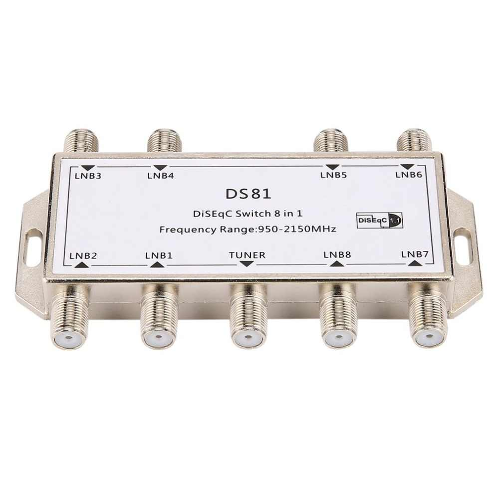 DS81 8 в 1 спутникового сигнала выключатель DiSEqC приемник LNB Multiswitch Heavy Duty цинковое литье под давлением хром литой обработанный