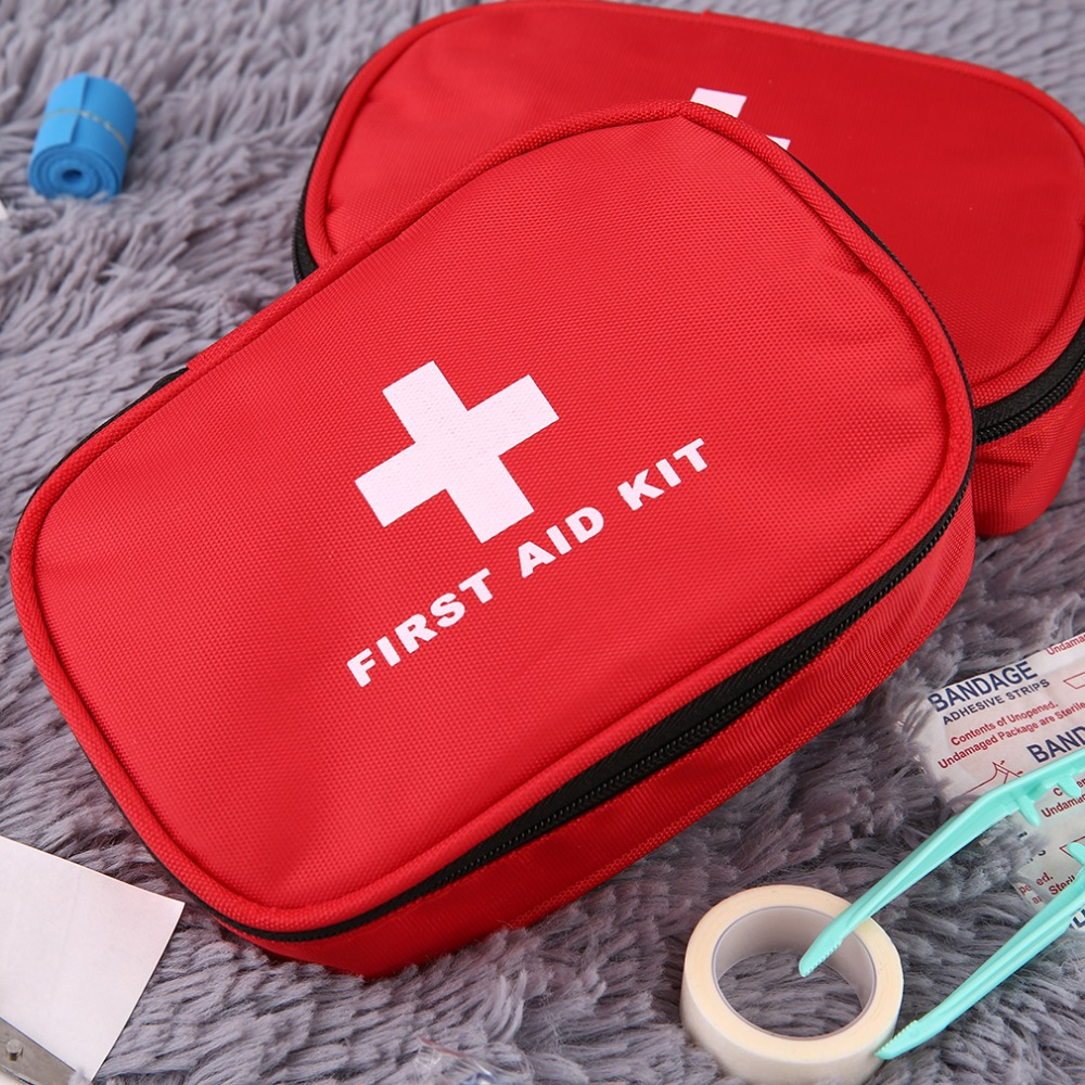 First Aid Kit Emergency Survival Medical Rescue Bag Treatment Case Home