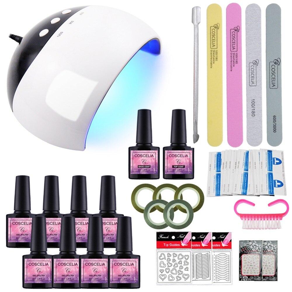 Set Für Maniküre Gel Für Nagel 4/8/10 stücke 8 ml Nagellack Set Nail art Werkzeuge kit Für Maniküre UV Gel Polieren Alle Für Maniküre Kit