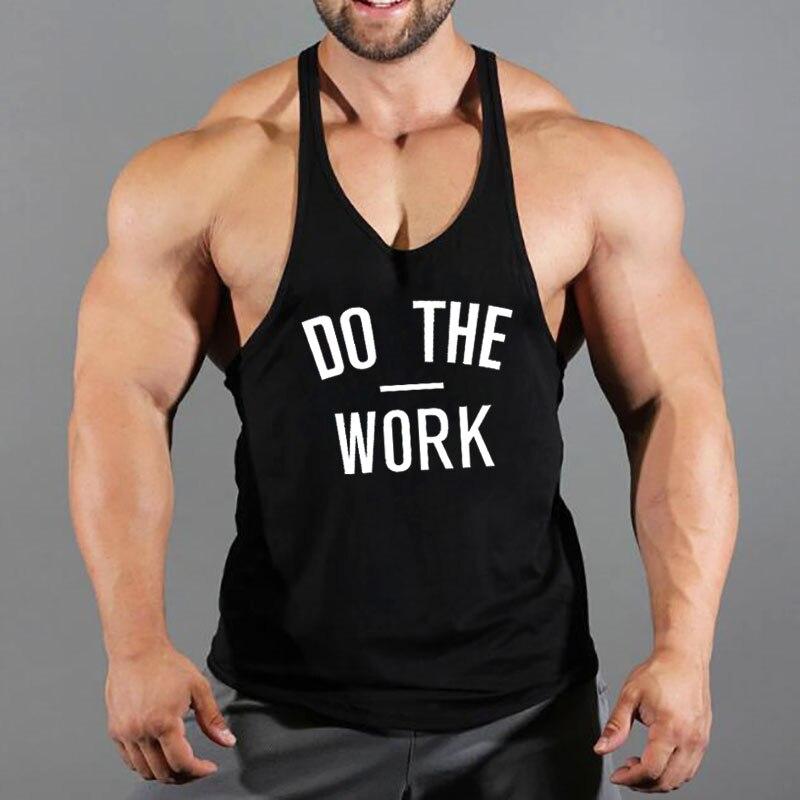 Brand Fitness Clothing Gyms Stringer Singlet Y Back   Tank     Top   Men Muscle Vest Canotta Bodybuilding Sleeveless shirt Tanktop