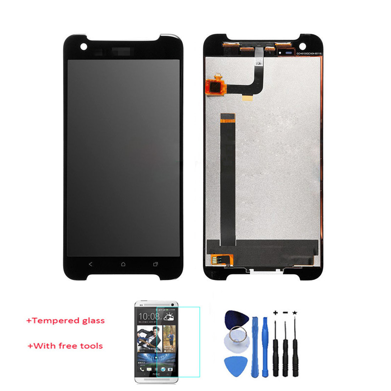 Original 100% Test LCD Display Touch Screen Digitizer Assembly Replacement For HTC One X9 Black +Tempered Glass  With Free Tools q1292 67003 free shipping new original for hp100 110 encoder strip on sale on sale