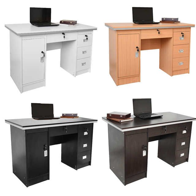 Superieur Wooden Office Table Computer Desk Workstation Simple Home PC Study Table  Office Furniture Dropshipping