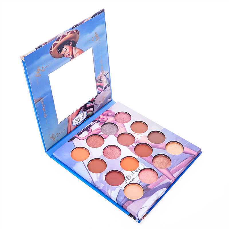 Miss rosa maquiagem sombra paleta matte shimmer sombra de olho luminosa de longa duração natural shimmer cosméticos 16 cores
