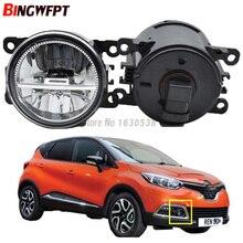 Acessórios exteriores do carro h11 lâmpadas de nevoeiro led amortecedor dianteiro luzes de passagem auxiliares para renault captur 2013 2017