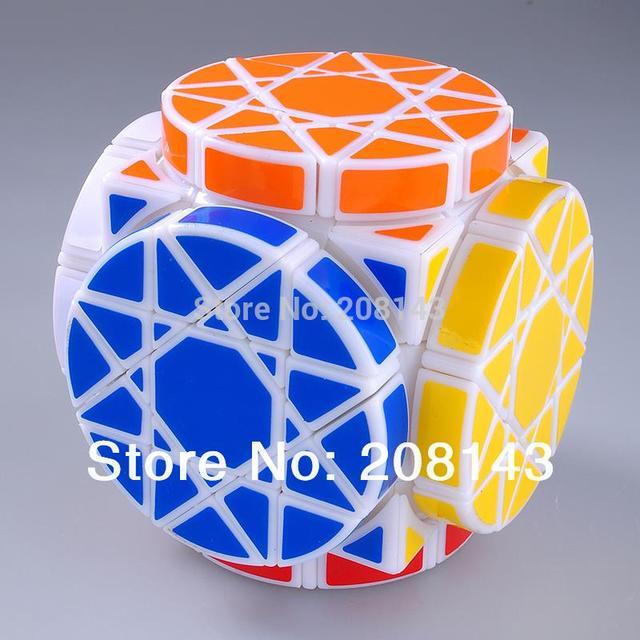 Dayan rueda de plástico sabiduría cubo mágico Puzzle blanco hijos perfectos desarrollo de la inteligencia del rompecabezas revirado juguete cubo