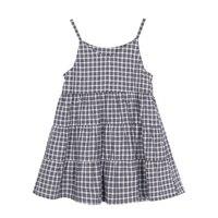 Pioneer Kids Summer Sleeveless Dress Girls Plaid Cotton Dresses Casual Sundress For Girls Children Clothing ELQ910001