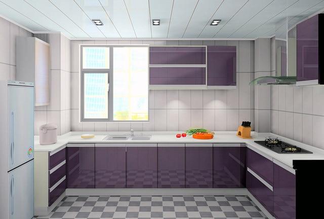 Online Shop Alta lucida cucina mobili colore viola   Aliexpress Mobile