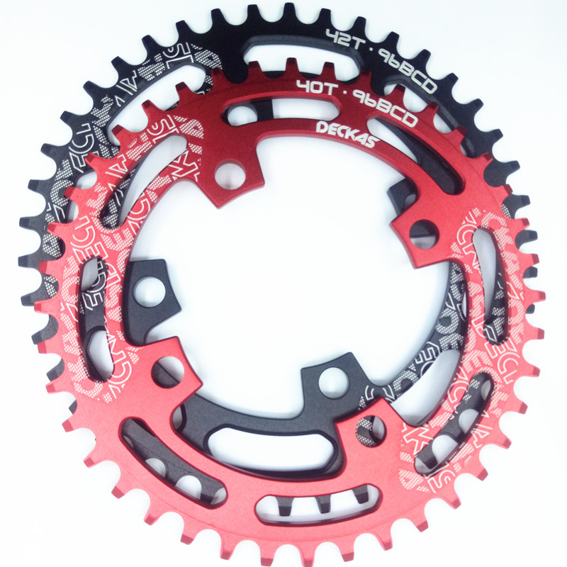 Bicycle Parts Realistic Deckas Round Bcd 96mm 96bcd 40/42/44t Mtb Mountain Bike Bicycle Chainring For Shimano Alivio M4000 M4050 For Deore M612 Crank To Ensure Smooth Transmission
