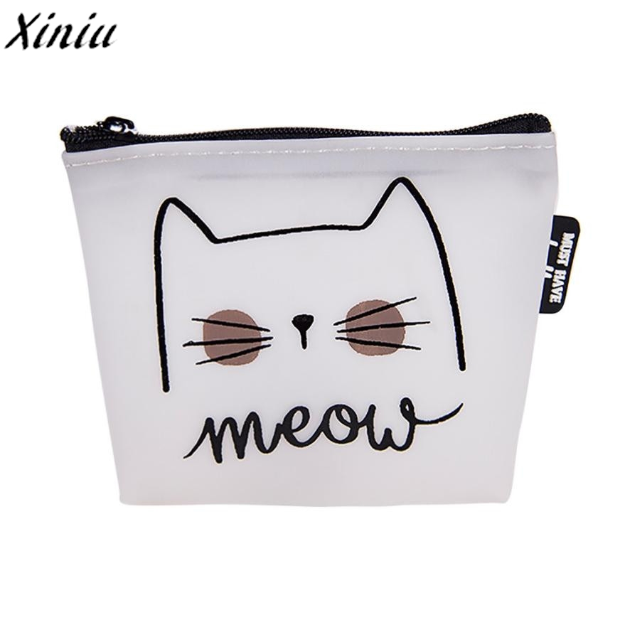 Animal Coin Purse Women Cute Cartoon Cat Snacks Wallet Bag Letters Zipper Change Pouch Bag Portafoglio Donna Fumetto *8111 cartoon pokemon go pikachu plush coin purse children zipper change cute pokemon ball purse wallet pouch bag for kids gift