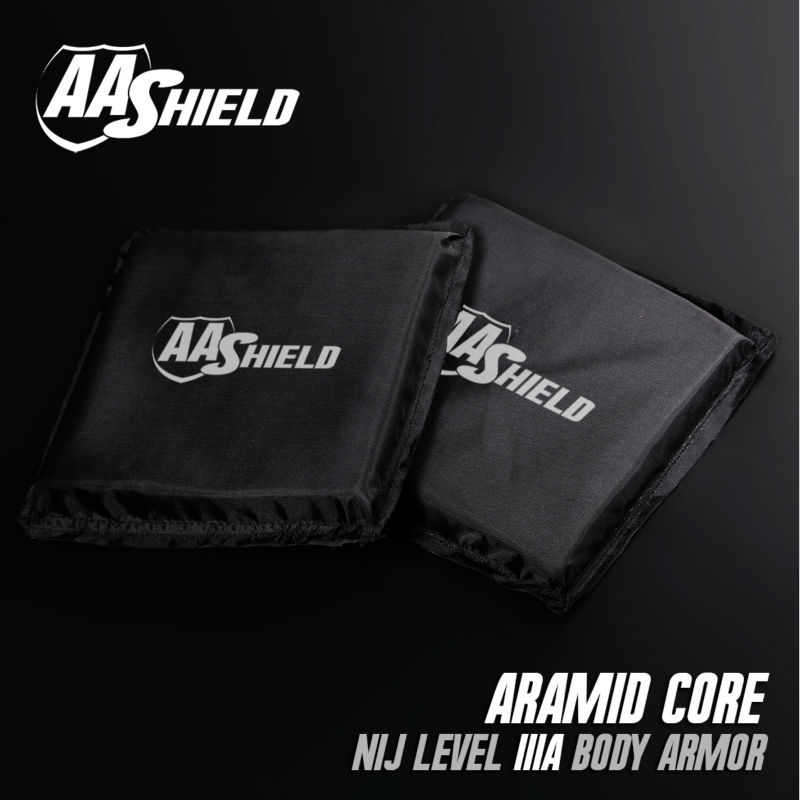 AA Shield Bullet Proof Soft Panel Body Armor Inserts Plate Aramid Core Self Defense Supply NIJ Lvl IIIA 3A 6x6 Pair aa shield bullet proof soft panel body armor inserts plate aramid core self defense supply nij lvl iiia 3a 8x10