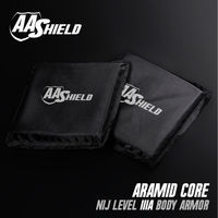 AA Shield Bulletproof Soft Armor Panel Body Armor Inserts Plate Aramid Core Self Defense Supply NIJ Lvl IIIA 3A &HG2 6x6 Pair