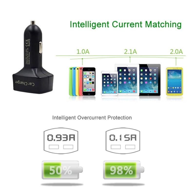 Dual USB autós töltő adapter voltmérő ampermérő teszter - Autóalkatrész - Fénykép 6