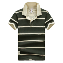 Fashion Polo Men Short Sleeve Striped Polo Shirt Elegant Spring Summer Man's Casual Shirts Cotton Tommis Breathable Shirts