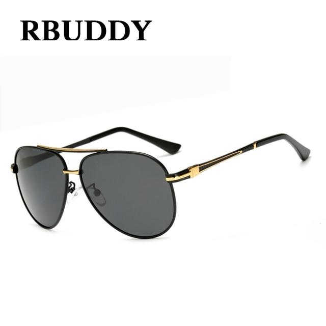 RBUDDY 2017 Brand Classic Black Polarized Sunglasses Gold Frame Men Male  Pilot Driving Sun Glasses for 2a10710e3fd