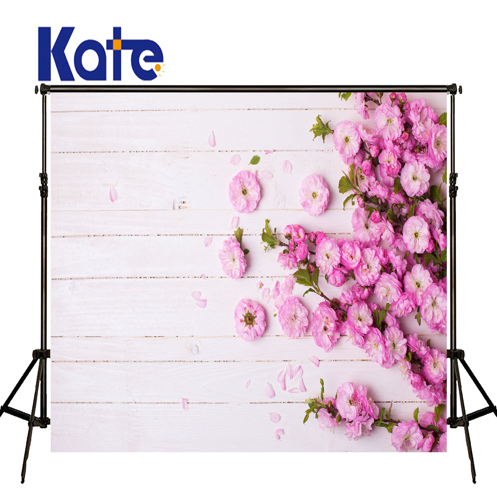 Kate Flower Wall  Backdrop Romantic Wedding Photography Backdrops Spring Photography Backdrops Seamless Photo For Studio Custom 857 seamless nail wedding photo frame wall paintings hook the real invisible