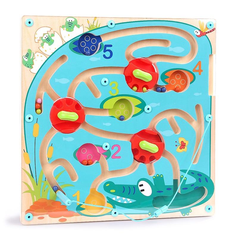 купить Creative Wooden Children Maze Beads Board Intellectual Development Math Block Toy Kids Balance&Hands Grasp Intelligence Toy по цене 3143.52 рублей