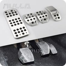 LHD алюминиевые педали AT& MT для Citroen C3 C4, автомобильные аксессуары, Накладка для ног, декоративная пластина