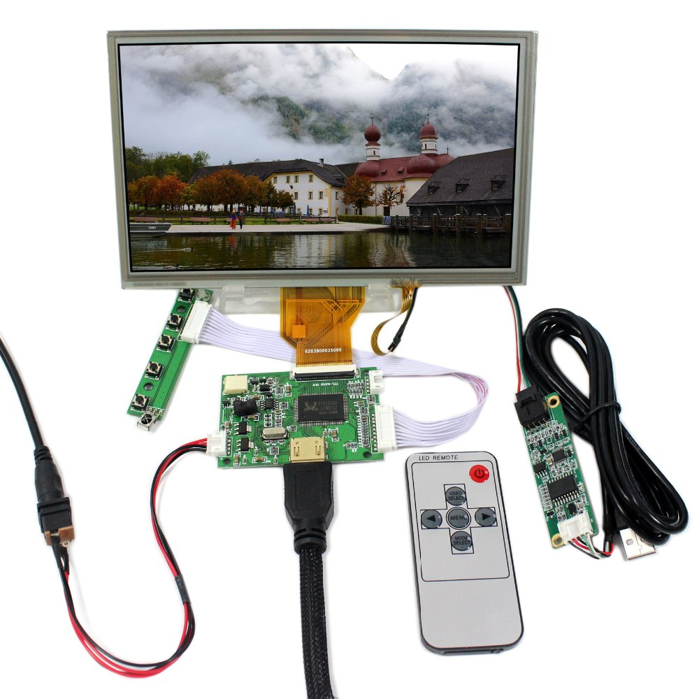 HDMI LCD Controller Board+8 800x480 AT080TN64 Touch LCD Screen