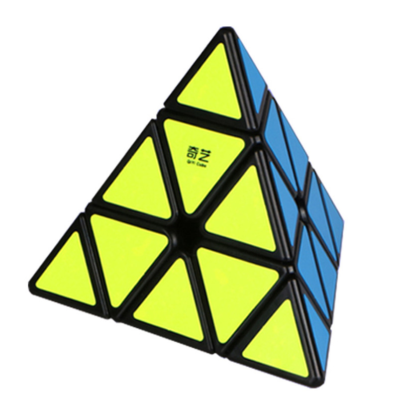 QIYI Pyraminx Speed Magic Cubes Educational Learning toys PVC sticker Pyraminx Puzzle Cube