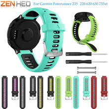 Replacement Watch band Silicone Strap Bracelet for Garmin Forerunner 735XT wristband 230 / 235 220 620