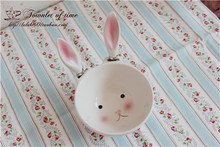 free shipping ceram bowl cute Rabbit bowl of rice salad bowl butter knife