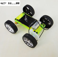 DIY Assembly Mini Solar Powered Toy DIY Car Kit Kid Gift Educational Puzzle IQ Gadget Hobby Robot 8x6.8x3.2 cm(China)