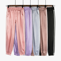 Dove pants female summer 2018 new pink ins super fire silky beam legs nine pants casual sports bloomers