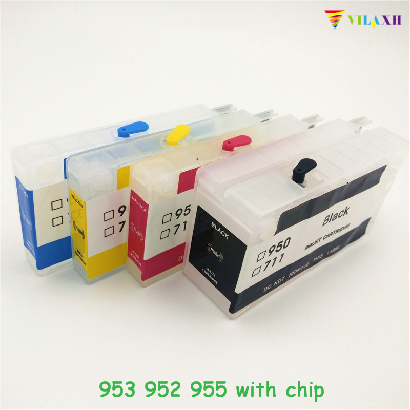 vilaxh 953xl Refillable Ink Cartridge With ARC Chip Replacement For HP 953xl 953 XL Officejet Pro 8730 8740 8735 8715 8720 850ml compatible empty refillable ink cartridge for epson stylus pro 10000 pro 10600 10000cf printers cartridge with chip t499